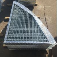 Wholesale Outdoor Anti Slip Galvanized Bar Grating , 30 * 3mm Metal Grid Flooring from china suppliers
