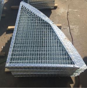 Quality Outdoor Anti Slip Galvanized Bar Grating, 30 * 3mm Metal Grid Flooring for sale