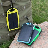 Wholesale 2016 Solor Charger 5000mah Portable Waterproof Solar Power Bank Backup Dual USB Powerbank from china suppliers