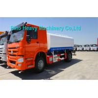 Wholesale White EURO III Water Tanker Truck 15000L , 4x2 Fuel Tanker Trucks from china suppliers