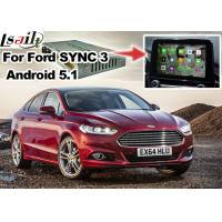 Wholesale Ford Mondeo Fusion SYNC 3 Auto Navigation System Android 5.1 WIFI BT Map Google Service from china suppliers