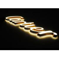 Buy cheap Poly 3d Lettering Signage / LED Channel Letters With Frontlit & Backlit For Cartier Jewelry Brand from wholesalers