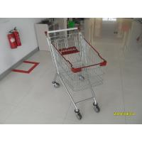 Buy cheap Durable Supermarket Shopping Carts , Wire Grocery Cart Zinc Plated Clear Powder from wholesalers