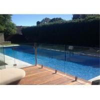 China Top quality outdoor frameless glass fence by tempered laminated glass on sale
