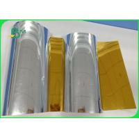 China Width 550cm Strong Folding Resistance Stiffness 95gsm Silver Gold PET Metallized For Box for sale