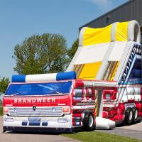 Buy cheap Large Inflatable Toy , Inflatable Bouncer Slide With Firetruck Theme from wholesalers