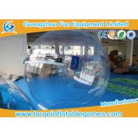Quality Summer water games PVC / TPU Inflatable Water Zorb Ball with Customized Color / Size for sale