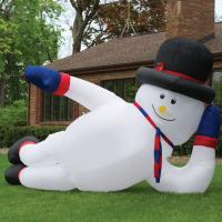 Wholesale Massive Inflatable Man Advertising Sprawling Snowman Comercial from china suppliers