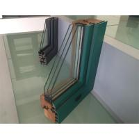 Wholesale Extruded Aluminium Window Profiles / Green Color Three Layers Glass Combined Windows from china suppliers