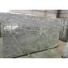 Polished Bookmatched Stone Slabs , Hard White Grey Polished Granite Slabs for sale