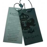Wholesale Puff Printing Paper Clothing Lable Tags, Cardboard Hang Tag For Garments from china suppliers