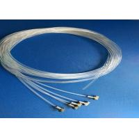 1.5 mm / 2.0 mm Stainless Wire Rope Fittings Transparent Nylon Ropes With Fittings At One End for sale