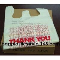 Wholesale POLYTHENE carrier, t shirt bag, BUTCHER bags, handy bags, handle bags, shopper, MEAT BAGS from china suppliers