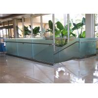 Wholesale High quality terrace railing designs with aluminum U channel frameless glass from china suppliers