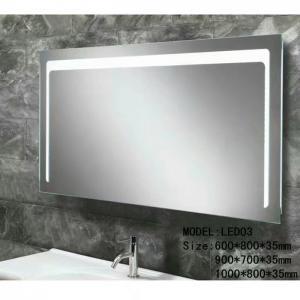 Buy cheap Modern illuminated Aluminum Led Bathroom Mirror With Radio , defogger , touch from wholesalers