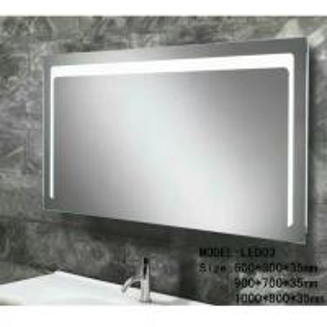 Buy cheap Modern illuminated Aluminum Led Bathroom Mirror With Radio , defogger , touch sensor from wholesalers