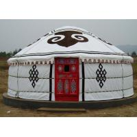 Quality 5 Person Mongolian Yurt Tent / Canvas Yurt Tent With Three Layer Wrap Cloth for sale