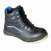 Wholesale Safety Boots with Genuine Leather and White PU Injection Sole, 38 to 47# Sizes Available from china suppliers