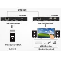 Buy cheap HDMI 4K KVM Extender USB2.0 with Audio and USB2.0 HUB and POE Extender from wholesalers
