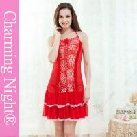 Wholesale Front Lace Sexy Lingerie Underwear Mature Women Cute Night Dress Showing Nipples from china suppliers