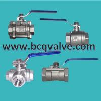 Wholesale 1/2/3-PC female threaded Reduced Port stainless steel ball valve from china suppliers