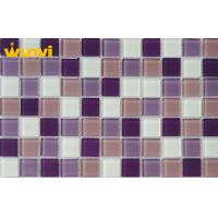 Wholesale Acid - Resistant Iridescent Glass Mosaic Tile For Kitchen Backsplash , SGS from china suppliers