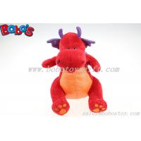 Hot Sale Soft Plush Red Dinosaur Toy With Purple Shiny Wings