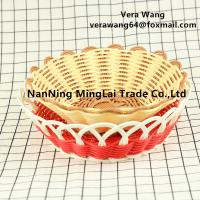 Hand weaving Rattan eco-friendly fruit and snack basket for sale