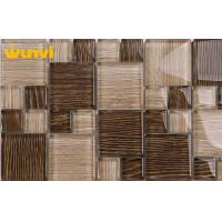 Wholesale Crystal Glass Chocolate Mosaic Tiles Patterns With Low Water Aborption from china suppliers