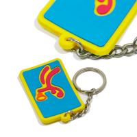 Eco - Friendly Personalized Promotional Gifts 3d Pvc Key Chain Any Color for sale