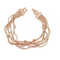 Buy cheap (B-125) Fashion Design Rose Gold Plated Link Chain Bangel Bracelet for Women from wholesalers
