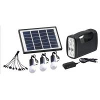 Buy cheap solar home lighting system with 3 LED bulbs for remote area, mobile charger , solar system from wholesalers