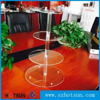 Wholesale Customized modern style 4 tier round plexiglass cake stand,acrylic cupcake stand wholesale from China from china suppliers