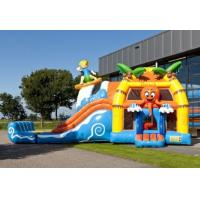 Wholesale 0.55mm PVC Beach Super Bouncer Slide Combo Medium With Pool from china suppliers