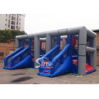 Wholesale Outdoor Hit And Run Adults Balance Inflatable Obstacle Course With Slides from Sino Inflatables from china suppliers