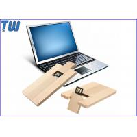 China Credit Card USB Flash Pen Drive 4GB Capacity Data Storage Wood Material for sale