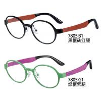 China PEI Flexible Plastic Glasses Frames , Optical Glasses Frames Red Purple Round for sale