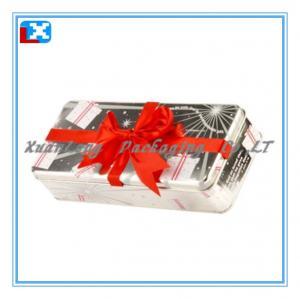 Quality rectangular metal chocolate tin can for sale