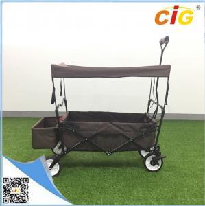 China Garden Beach Tool Sports Wagon Cart , Folding Trolley Wagon with Canopy on sale