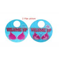 Quality 3D Flip Changing Hangtags Lenticular Printing Services Swing Tag for Clothes for sale