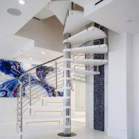 Wholesale Stainless Steel Spiarl Staircase Custom Delicate Spiarl Staircase Design Internal Safe Spiral Staircase from china suppliers
