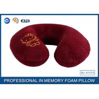 Wholesale Cartoon Embroidery Comfortable Memory Foam Travel Neck Pillow Violet / Red / Blue from china suppliers