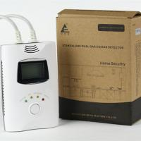 China Carbon monoxide detector with 9V back up battery and LCD screen for home use on sale