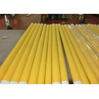 Low Elongation Monofilament Polyester Screen Printing Mesh With White And Yellow for sale