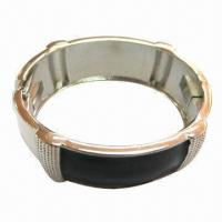 Wholesale Fashion Metal Bracelet with Lacquer Dome, Eco-friendly from china suppliers