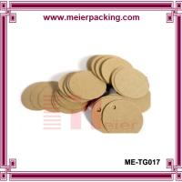 Wholesale customized clothing hang tag/kraft paper shoes hangtags/Round Shape Kraft Blank Hang Tag Wedding Party  ME-TG017 from china suppliers