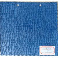 Wholesale Blue Color PU Leather Material Thickness 0.9mm -1.0mm for Home Textile, Decorative, Bag from china suppliers