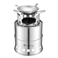 Wholesale Stainless Steel Wood Burning Camping Stove With 4 Flexible Non Slip Arm from china suppliers