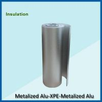 Double sided aluminum foil backed xpe insulation blue fire for Fire resistant fiberglass insulation