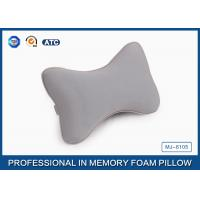 Quality Softest Car Seat Neck Pillow Bone Shaped Memory Foam Pillow With Jersey Fabric for sale